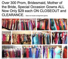 ONE DAY Spectacular GOWN SALE HUNDREDS of WEDDING & PROM Gowns Save HUNDREDS!  Sun/April 30  10 a - 4 pm 9925 214th https://t.co/QmOM6iZHpa