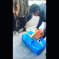 Bag full of shoes for the homeless