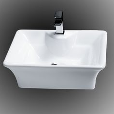 Details About Bathroom Sinks Modern Square Basin Ceramic Bathroom Counter Top Basin Sinks