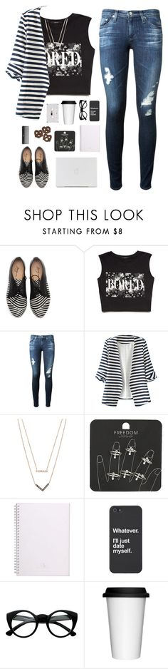 """Bored"" by genesis129 ❤ liked on Polyvore featuring Forever 21, AG Adriano Goldschmied, WithChic, Michael Kors, Topshop, Retrò, Sagaform, Sephora Collection, women's clothing and women's fashion"