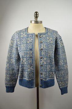 Vintage HUSFLIDEN BERGEN Hand Knit
