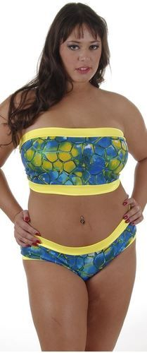 b6d0afc4f6 Plus size Bandeau w Hipster 2 piece Bathing suit