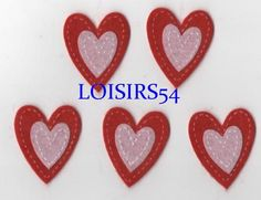 Coeur feutrine rouge et rose 35 mm autocollant lot de 5 pièces pour décoration : Déco, Customisation Textile par loisirs54 http://www.alittlemercerie.com/deco-customisation-textile/coeur_feutrine_rouge_et_rose_35_mm_autocollant_lot_de_5_pieces_pour_decoration-5021089.html