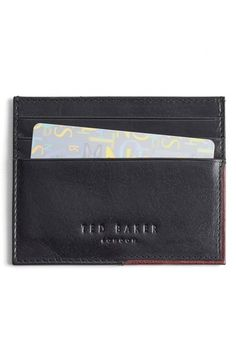 TED BAKER 'Cooke' Leather Card Case. #tedbaker #bags #leather #