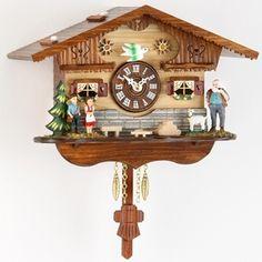Miniatura de Relógio Cuco alemão tipo chale,eletrônico.