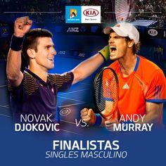 Los momentos definitivos en el #AustralianOpen se acercan, Andy, Murray y Novak Djokovic ¿Quién será el campeón? www.kia.com.co/australianopen/