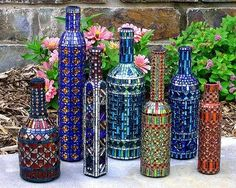 Wow...mosaic bottles! What an idea!