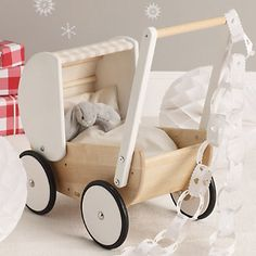 Wooden Toy Pram from Bajo Toymakers | The White Company