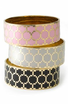 Juicy Couture 'Honeycomb' Enamel Bangle available at #Nordstrom