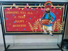 Art ,Craft ideas and bulletin boards for elementary schools: Baisakhi bulletin board