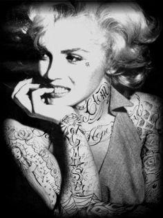 marilyn monroe tattoos | marilyn monroe tattoos tumblr - Bing Imagens | We Heart It