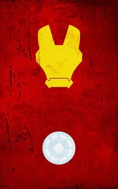 superhero minimalist posters: ironman