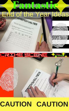 Ready for the end of the year? Try this teaching idea for a Middle School classroom to make EOY a breeze! Activate forensic science, inference skills and evidence based writing with this great review activity…a crime scene for kids! This fun activity will keep students occupied and engaged!""