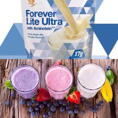 Forever Lite Ultra protein shakes for weightloss are SO versatile - healthy & tasty too! And they are also a key ingredient of ever popular Clean 9 Diet. Aloe Vera Gel Forever, Forever Living Aloe Vera, Forever Aloe, Forever Living Clean 9, Forever Living Business, Forever Living Products, Healthy Protein Shakes, Protein Shake Recipes, Clean9