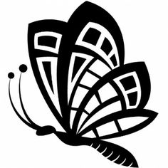 Mariposa dibujo clip art negro