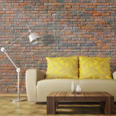 Brick Wall x Wallpaper East Urban Home Brick Wall Wallpaper, Photo Wallpaper, 3d Design, Buy Wallpaper Online, Decoration Table, Wall Murals, Man Cave, Beautiful Homes, Love Seat