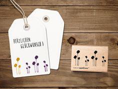 Pflanzen - Stempel Reihung floral - ein Designerstück von catsonappletrees bei DaWanda