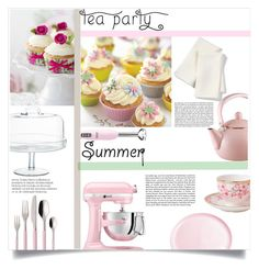 """""""Afternoon Tea Party"""" by lifeisworthlivingagain ❤ liked on Polyvore featuring interior, interiors, interior design, home, home decor, interior decorating, Libeco, Wedgwood, Villeroy & Boch and Cuisinart"""