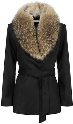ALICE + OLIVIA Evana Fur Collar Coat wow I cannot think of a coat ,that is this beautiful.