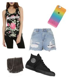 """Do I HAVE to go in public?"" by swimmerfangirl ❤ liked on Polyvore featuring Topshop and Converse"