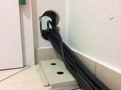 Montag (17.08.15):  Kabel-Durchbruch