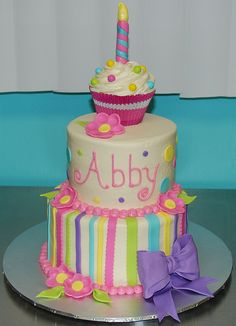 Cute girls birthday cake.
