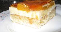 Fabulosa receta para Tarta de melocotón fácil y fresquita . Delicioso postre con una base de sobaos y crema de melocotones, rico, rico.