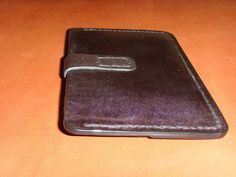 Leather holder auto documents