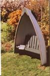Even better - a boat that's now an arbour seat for the garden