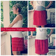 DIY Prepster Maternity Skirt Tutorial