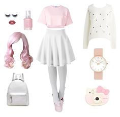 """Pastel Tumblr Aesthetics"" by sol-d-portal on Polyvore featuring Keds, Hello Kitty, Essie, Smashbox, Steve J & Yoni P, Pink, tumblr, pastel and aesthetic"