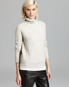 Vince Sweater - Textured Cable Turtleneck