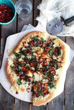 Butternut squash, kale & fontina vegetarian pizza. It's okay to eat this every night, right?
