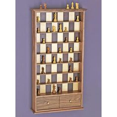 Wall-hung vertical checker/chess board. How much would you pay for one of these custom-made?