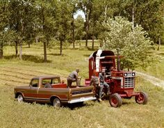 Farmers Refueling International 966 Tractor | Photograph | Wisconsin Historical Society