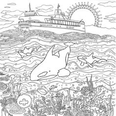 Legendary Landscapes: Coloring Book Journey