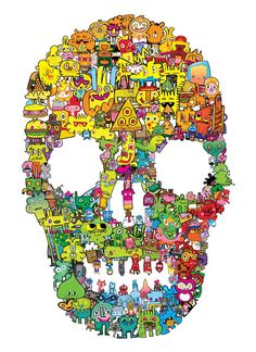 Burger Skull Print Small, now featured on Fab. Kawaii Doodles, Stuff And Thangs, Skull Print, Skull And Bones, Memento Mori, Doodle Art, New Art, Illustration Art, Illustrations