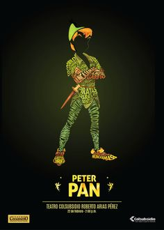 """Advertisement for the """"Peter Pan"""" musical at Teatro Colsubsidio - posted by David Martínez on Behance"""