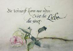 """Grußkarte """"Es ist die Liebe, die singt..."""""""