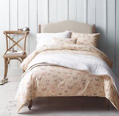 Vintage Butterfly & Vintage-Washed Percale Bedding Collection