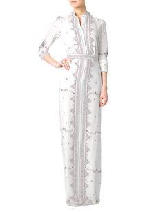 Ivory Print Silk Florence Dress Vilshenko
