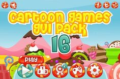 Check out Cartoon Games GUI Pack 16 by pzUH on Creative Market