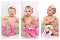 Girls Birthday Number Prop. ONE. Cake. Flowers. Pink. Orange. 1st Birthday. One. First Birthday. Photo Prop. on Etsy, $40.00