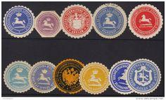 BRUNSWICK 1880/1900  Wafer Seals