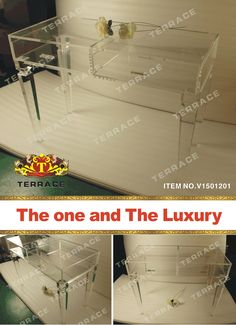Clear Acrylic Vanity Drawer Desk,Clear Lucite Console Table In Console  Tables From Furniture