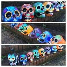 Day of the Dead - Painted sugar skull - skull sculpture - custom made - Dia de los Muertos - hand painted - offbeat bride - Halloween decor