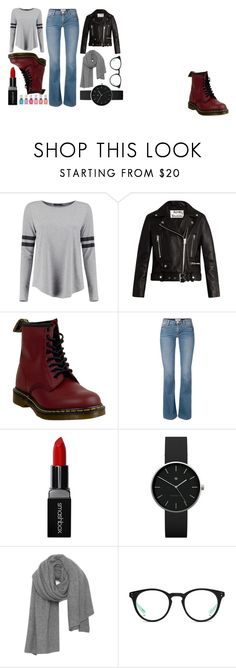 """""""This is Me…"""" by darcyglin on Polyvore featuring Boohoo, Acne Studios, Dr. Martens, Smashbox, Newgate, American Vintage and NIKE"""