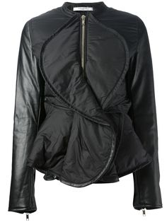 Givenchy Ruffle Jacket in Black | Lyst