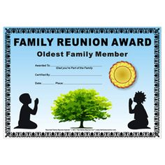 1000 images about family reunion ideas on pinterest for Free family reunion certificates templates