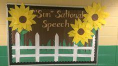 """Sun"" sational speech bulletin board. #sunflowers #autumn #speech"